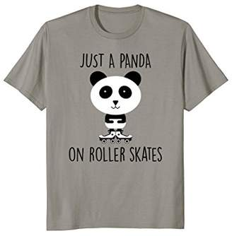 JUST A PANDA ON ROLLER SKATES T-Shirt for Kids or Adults