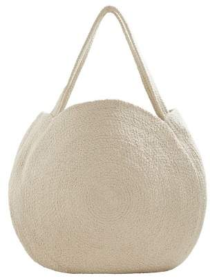 MANGO Round shopper bag
