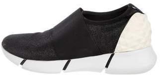 Elena Iachi Metallic Low-Top Sneakers
