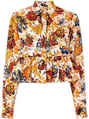 MSGM floral peplum shirt