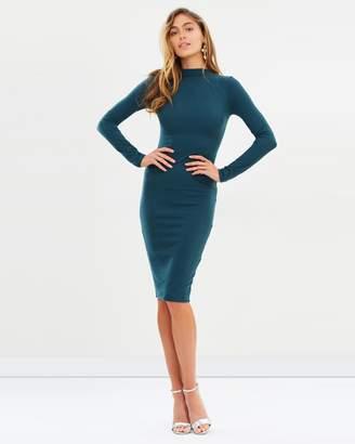 Missguided Ribbed Midi Dress
