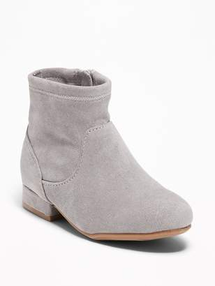 Old Navy Faux-Suede Stretch Sock Boots for Toddler Girls