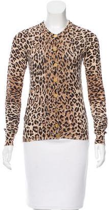 Dolce & Gabbana Leopard Print Crew Neck Cardigan $125 thestylecure.com