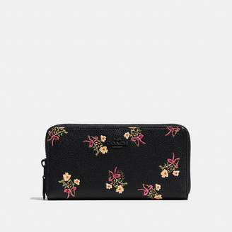 Coach Accordion Zip Wallet With Floral Bow Print