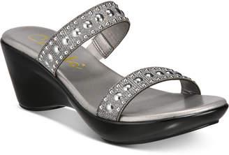 Callisto Beguile Slide Studded Platform Wedge Sandals