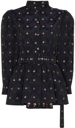 N. Duo pouf sleeve peplum blouse