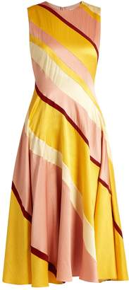Roksanda Seersucker-silk striped dress