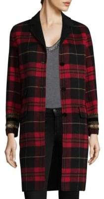 The Kooples Check Double-Sided Coat