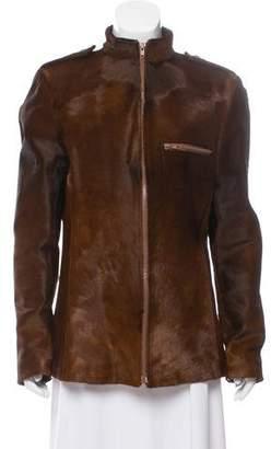 Gucci Calf Hair Zip-Up Jacket