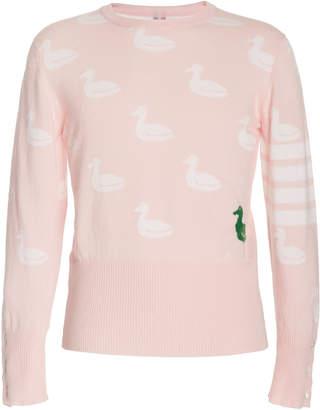 Thom Browne Intarsia-Knit Cashmere-Blend Sweater
