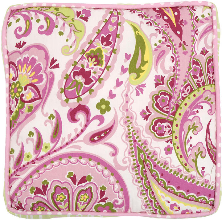 My Baby Sam Paisley Splash in Pink Throw Pillow