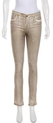 Helmut Lang Metallic Mid-Rise Jeans