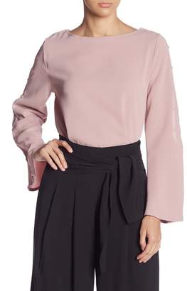 Do & Be Do + Be Faux Pearl Sleeve Blouse
