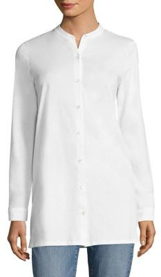 Eileen Fisher Solid Smooth Tunic $158 thestylecure.com