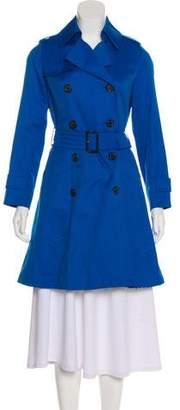 Aquascutum London Double-Breasted Knee-Length Coat
