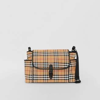 Burberry Vintage Check Baby Changing Shoulder Bag, Yellow
