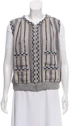 Chanel Embellished Linen Vest w/ Tags