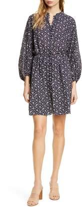 Joie Galani Long Balloon Sleeve Cotton Blend Dress