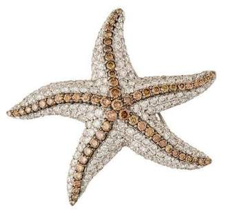 18K Diamond Starfish Brooch