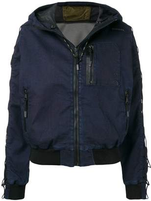Diesel hooded bomber jacket