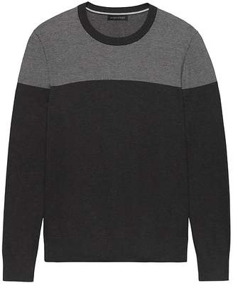 Banana Republic SUPIMA® Cotton Colorblock Birdseye Sweater