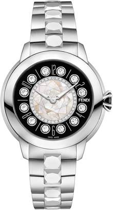 Fendi Ishine Diamond Bezel Rotating Bracelet Watch, 33mm