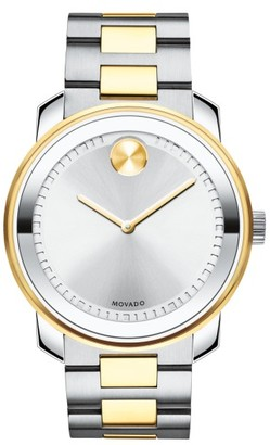 Movado Two Tone Bracelet Watch, 43Mm $750 thestylecure.com