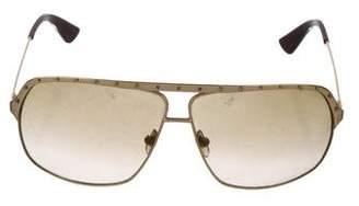 Alexander McQueen Aviator Gradient Sunglasses