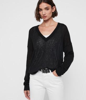 AllSaints Una V-Neck Sweater