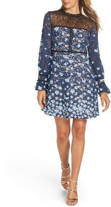 Foxiedox Felicia Floral Applique Dress