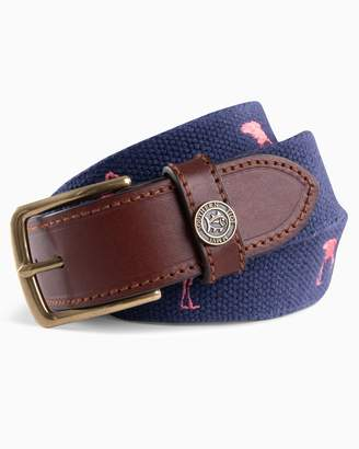 DAY Birger et Mikkelsen Southern Tide Flamingo Embroidered Canvas Belt