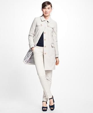 Bonded Cotton Trench Coat $238 thestylecure.com