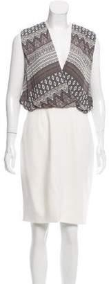 L'Agence Silk Knee-Length Dress