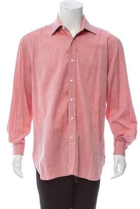 Borrelli Herringbone Dress Shirt