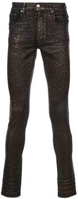 Amiri leopard print skinny jeans
