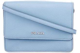 Prada Saffiano Lux Wallet On Strap