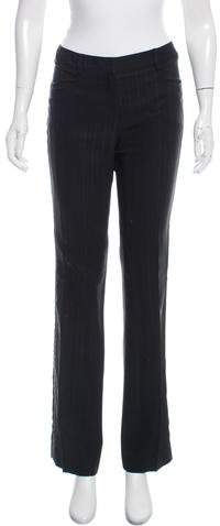 Christian Dior Leather-Trimmed Mid-Rise Pants