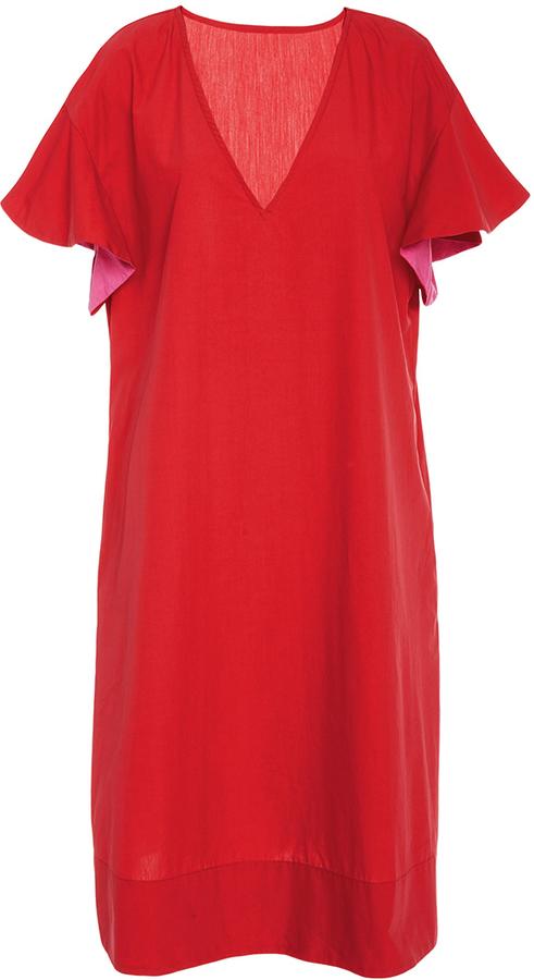 AraksAraks Poppy Orchid Marion V-Neck Cover Up Dress