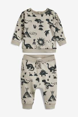 Next Boys Mink Jumper And Joggers Co-ord Two Piece Set (0mths-2yrs) - Natural