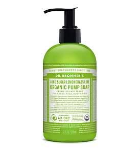 Dr. Bronner's Shikakai Hand And Body Soap 355Ml - Lemongrass/Lime