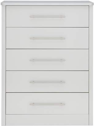 Consort Furniture Limited Liberty Ready Assembled Chest of 5 Drawers