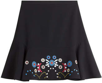 Peter Pilotto Flared Skirt with Embroidery