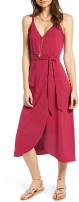 Treasure & Bond Knit Wrap Midi Sundress