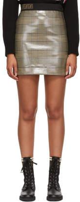 Fendi Tan Forever Plaid Skirt