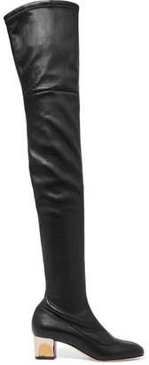 Alexander McQueen Stretch-leather Over-the-knee Boots - Black