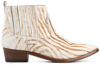 Golden Goose zebra print ankle boots
