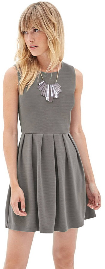 Forever 21 Ribbed Knit A-Line Dress