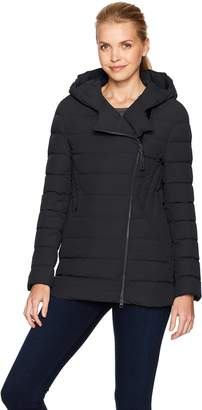 Mackage Women's Tristin Lux Light Weight Down Jacket with Asymmetrical Zip