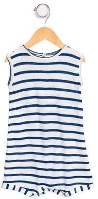 Makie Girls' Sleeveless Stripe Romper