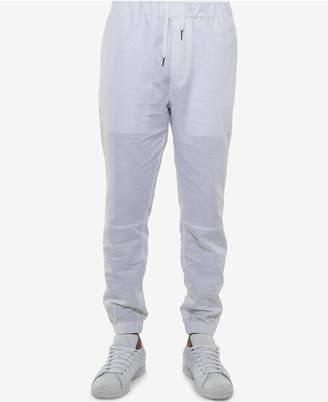 Sean John Men's Linen Blend White Party Jogger Pants, Created for Macy's